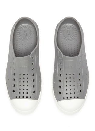 Figure View - Click To Enlarge - NATIVE - 'Jefferson' Perforated Colourblock Kids Slip-on Sneakers