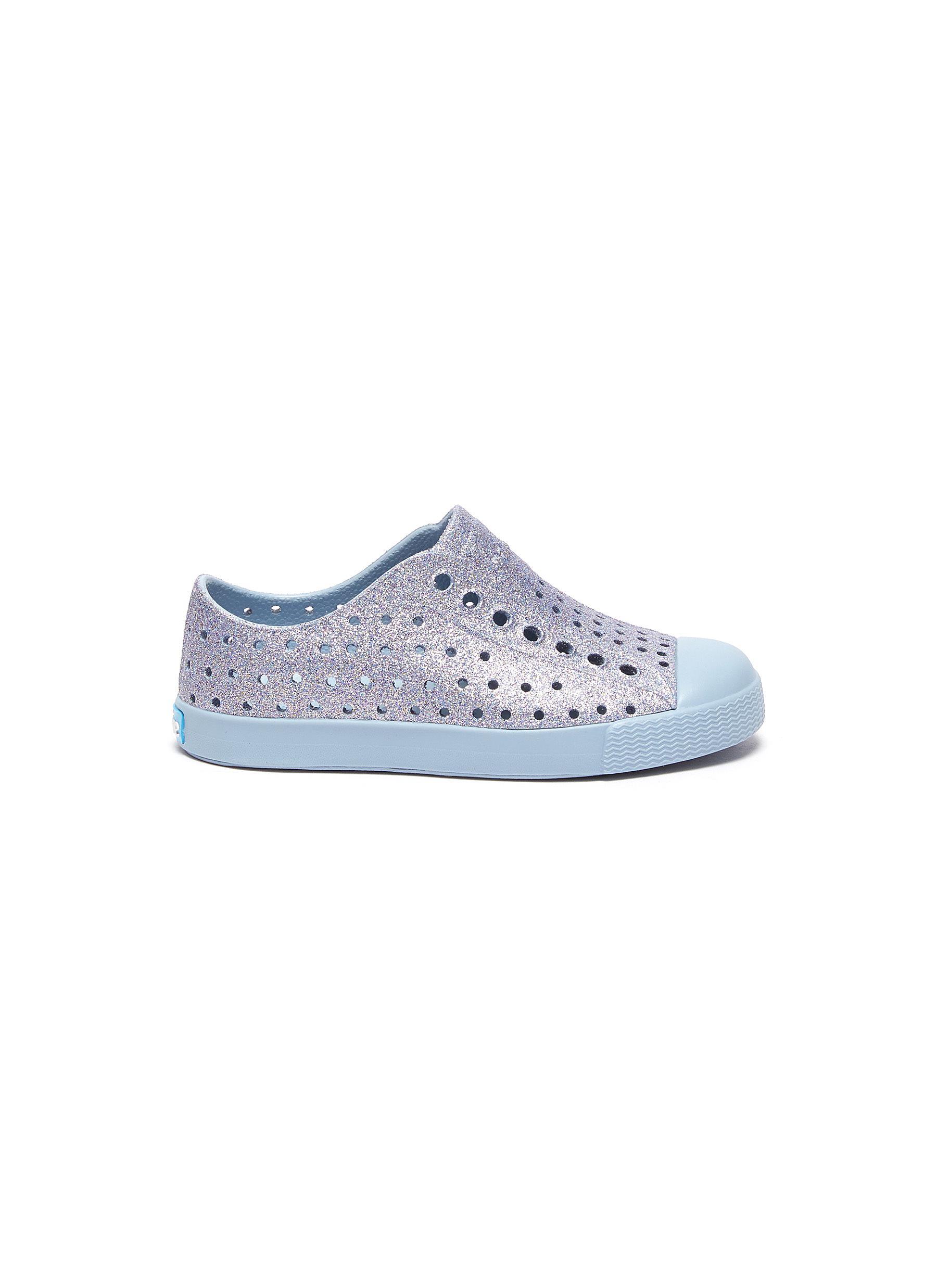 Jefferson' Perforated Shimmer Toddler Slip-on Sneakers - NATIVE - Modalova