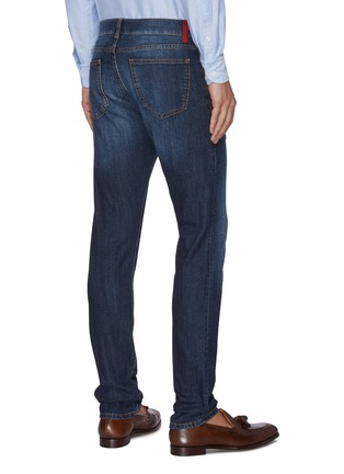 Back View - Click To Enlarge - ISAIA - Slim fit mid wash jeans