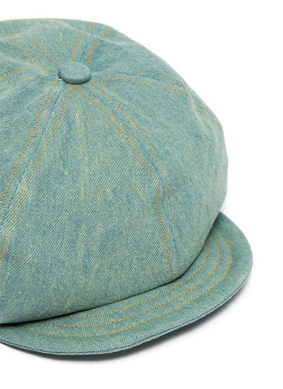 Detail View - Click To Enlarge - MOSSANT - Denim newsboy cap