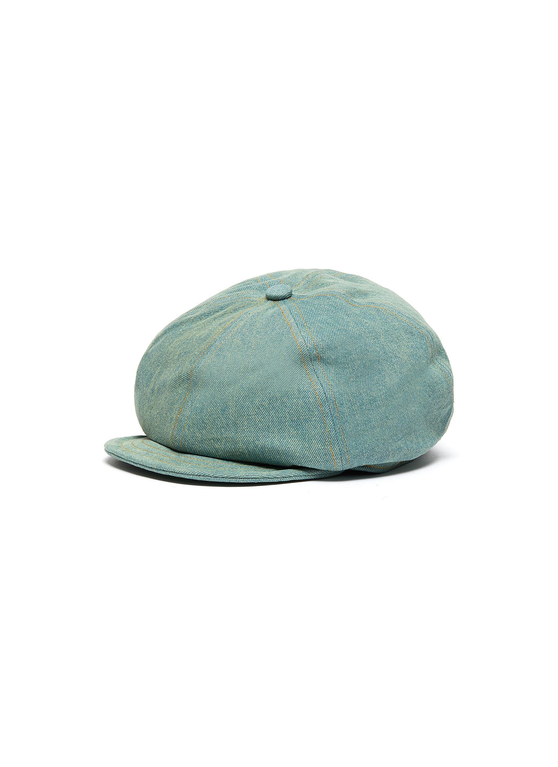 Denim newsboy cap