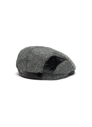 Figure View - Click To Enlarge - MOSSANT - Wool blend flat cap