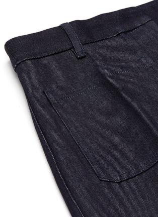 - VICTORIA BECKHAM - Centre Crease Patch Pocket Full Length Denim Jeans