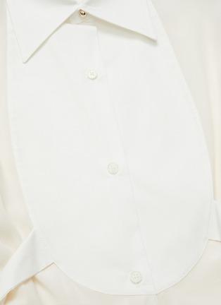 - VICTORIA BECKHAM - Contrast Bib Tuxedo Shirt