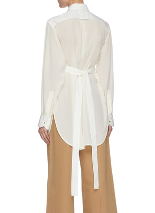 Back View - Click To Enlarge - VICTORIA BECKHAM - Contrast Bib Tuxedo Shirt