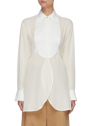 Main View - Click To Enlarge - VICTORIA BECKHAM - Contrast Bib Tuxedo Shirt
