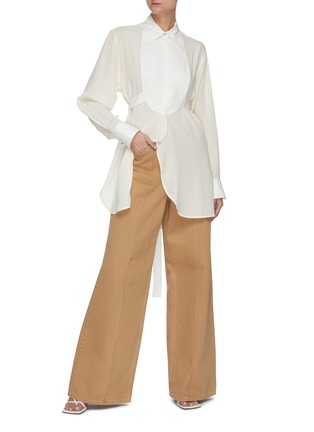Figure View - Click To Enlarge - VICTORIA BECKHAM - Contrast Bib Tuxedo Shirt