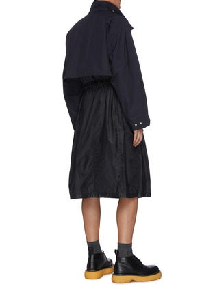 Back View - Click To Enlarge - TOGA VIRILIS - Clip buckle waist belt coat