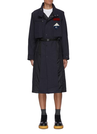Main View - Click To Enlarge - TOGA VIRILIS - Clip buckle waist belt coat