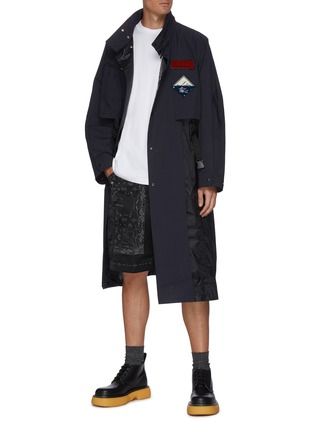 Figure View - Click To Enlarge - TOGA VIRILIS - Clip buckle waist belt coat