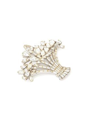 Detail View - Click To Enlarge - LANE CRAWFORD VINTAGE ACCESSORIES - Trifari diamanté basket brooch