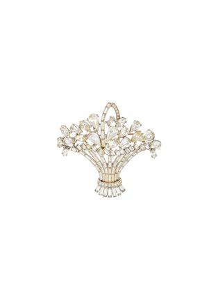 Main View - Click To Enlarge - LANE CRAWFORD VINTAGE ACCESSORIES - Trifari diamanté basket brooch