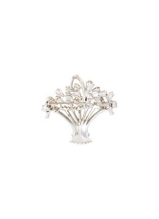 - LANE CRAWFORD VINTAGE ACCESSORIES - Trifari diamanté basket brooch