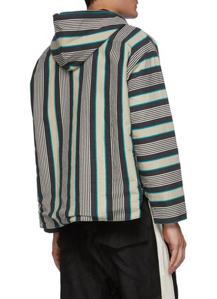 Back View - Click To Enlarge - RHUDE - Poncho puff half zip hoodie