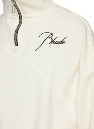 - RHUDE - Embroidered Logo Anorak Cotton Sweatshirt