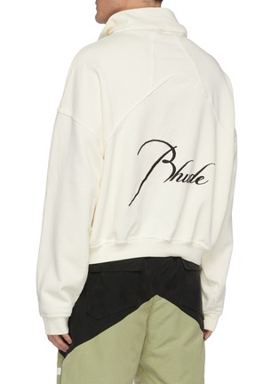 Back View - Click To Enlarge - RHUDE - Embroidered Logo Anorak Cotton Sweatshirt