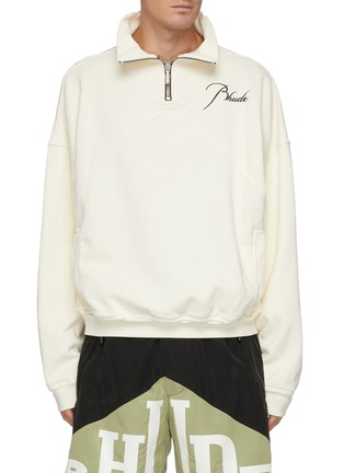 Main View - Click To Enlarge - RHUDE - Embroidered Logo Anorak Cotton Sweatshirt