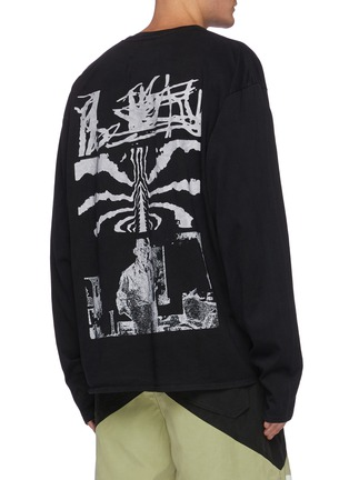 Back View - Click To Enlarge - RHUDE - Logo Graphic Print Long Sleeve Cotton T-shirt