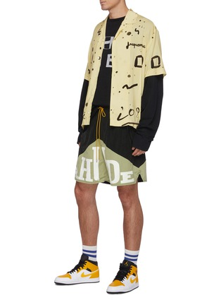 Figure View - Click To Enlarge - RHUDE - Logo Graphic Print Long Sleeve Cotton T-shirt