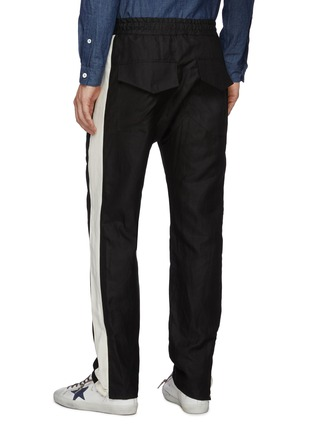 Back View - Click To Enlarge - RHUDE - 'Collegiate' side stripe track pants