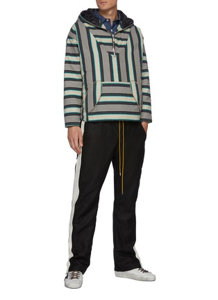 Figure View - Click To Enlarge - RHUDE - 'Collegiate' side stripe track pants