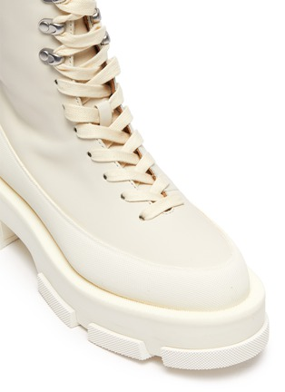 Detail View - Click To Enlarge - BOTH - GAO' Platform Leather Combat Boots