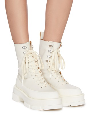 Figure View - Click To Enlarge - BOTH - GAO' Platform Leather Combat Boots