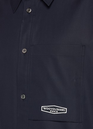 - WOOYOUNGMI - Back Logo Print Patch Pocket Cotton Shirt
