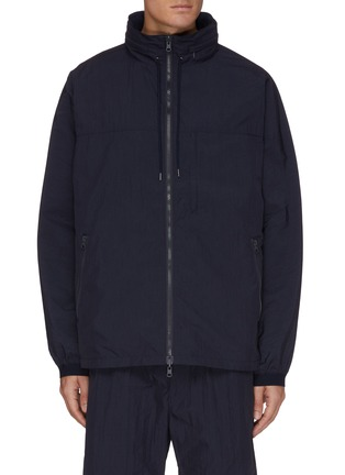 Main View - Click To Enlarge - NANAMICA - Reversible Zip Front Concealed Hood Jacket