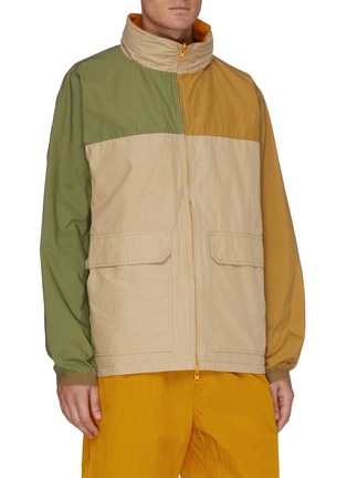 Detail View - Click To Enlarge - NANAMICA - Reversible Zip Front Concealed Hood Jacket
