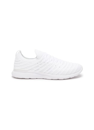 Main View - Click To Enlarge - ATHLETIC PROPULSION LABS - 'TechLoom Wave' Knitted Lace Up Running Sneakers