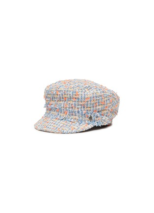 Main View - Click To Enlarge - MAISON MICHEL - New Abby' tweed kids newsboy cap