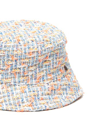 Detail View - Click To Enlarge - MAISON MICHEL - 'AXEL' LOGO PLAQUE KIDS TWEED BUCKET HAT