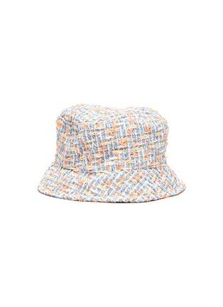 Figure View - Click To Enlarge - MAISON MICHEL - 'AXEL' LOGO PLAQUE KIDS TWEED BUCKET HAT