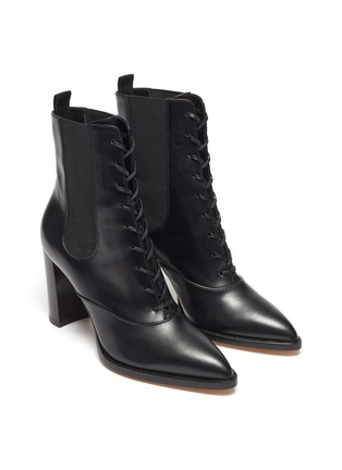 Detail View - Click To Enlarge - GIANVITO ROSSI - Laceup leather boots