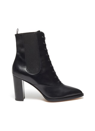 Main View - Click To Enlarge - GIANVITO ROSSI - Laceup leather boots