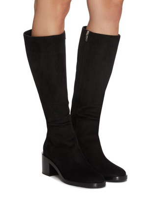 Figure View - Click To Enlarge - GIANVITO ROSSI - Suede tall boots