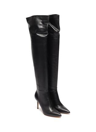 Detail View - Click To Enlarge - GIANVITO ROSSI - Leather thigh high boots