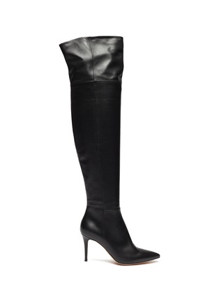 Main View - Click To Enlarge - GIANVITO ROSSI - Leather thigh high boots