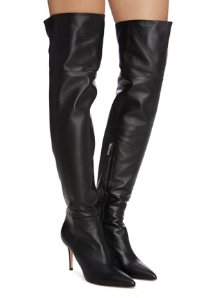 Figure View - Click To Enlarge - GIANVITO ROSSI - Leather thigh high boots