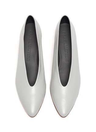 Detail View - Click To Enlarge - GRAY MATTERS - 'Gemma' sculptural heel pumps