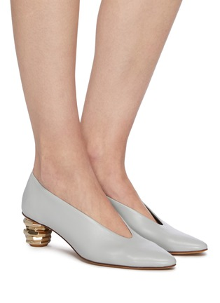Figure View - Click To Enlarge - GRAY MATTERS - 'Gemma' sculptural heel pumps