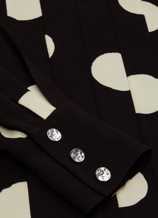 - PROENZA SCHOULER - Broken dot graphic print mock neck top
