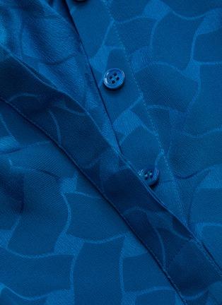 - SAINT LAURENT - Neck tie silk blouse