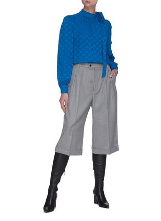 Figure View - Click To Enlarge - SAINT LAURENT - Neck tie silk blouse