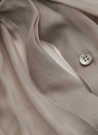 - SAINT LAURENT - Lavallière Necktie Silk Sheer Blouse