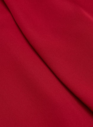 - ROLAND MOURET - Northcott' Drape Front Belted Georgette Midi Dress