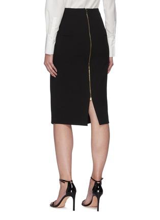 Back View - Click To Enlarge - ROLAND MOURET - 'Capel' asymmetric pencil skirt