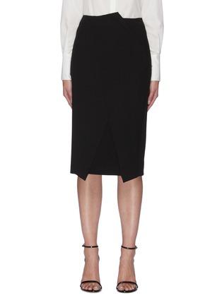 Main View - Click To Enlarge - ROLAND MOURET - 'Capel' asymmetric pencil skirt