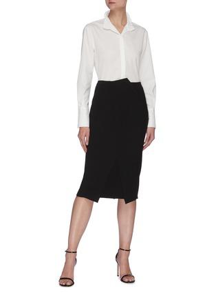 Figure View - Click To Enlarge - ROLAND MOURET - 'Capel' asymmetric pencil skirt